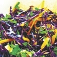 Red Cabbage Slaw with Cilantro & Pumpkin Seeds